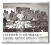 Articulo acerca EF8A publicado en el periódico La Provincia - Diario Las Palmas