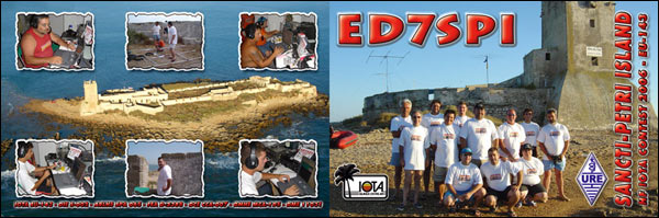 QSL ED7SPI Isla de Sancti-Petri