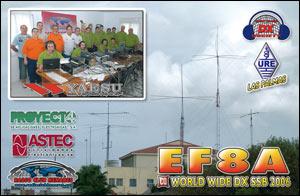 QSL EF8A - CQ WW DX SSB 2006