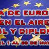 Día de Europa en el aire